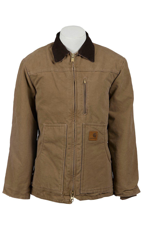 Carhartt Mens Frontier Brown Sandstone Ridge Sherpa Lined Coat Carhartt Jacket Carhartt Mens Jackets [ 1440 x 900 Pixel ]