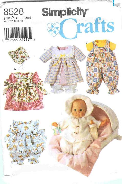 Picasa Web Albums Titia1438 Simplicity 8528 Baby Doll Clothes Sewing Doll Clothes Doll Sewing Patterns
