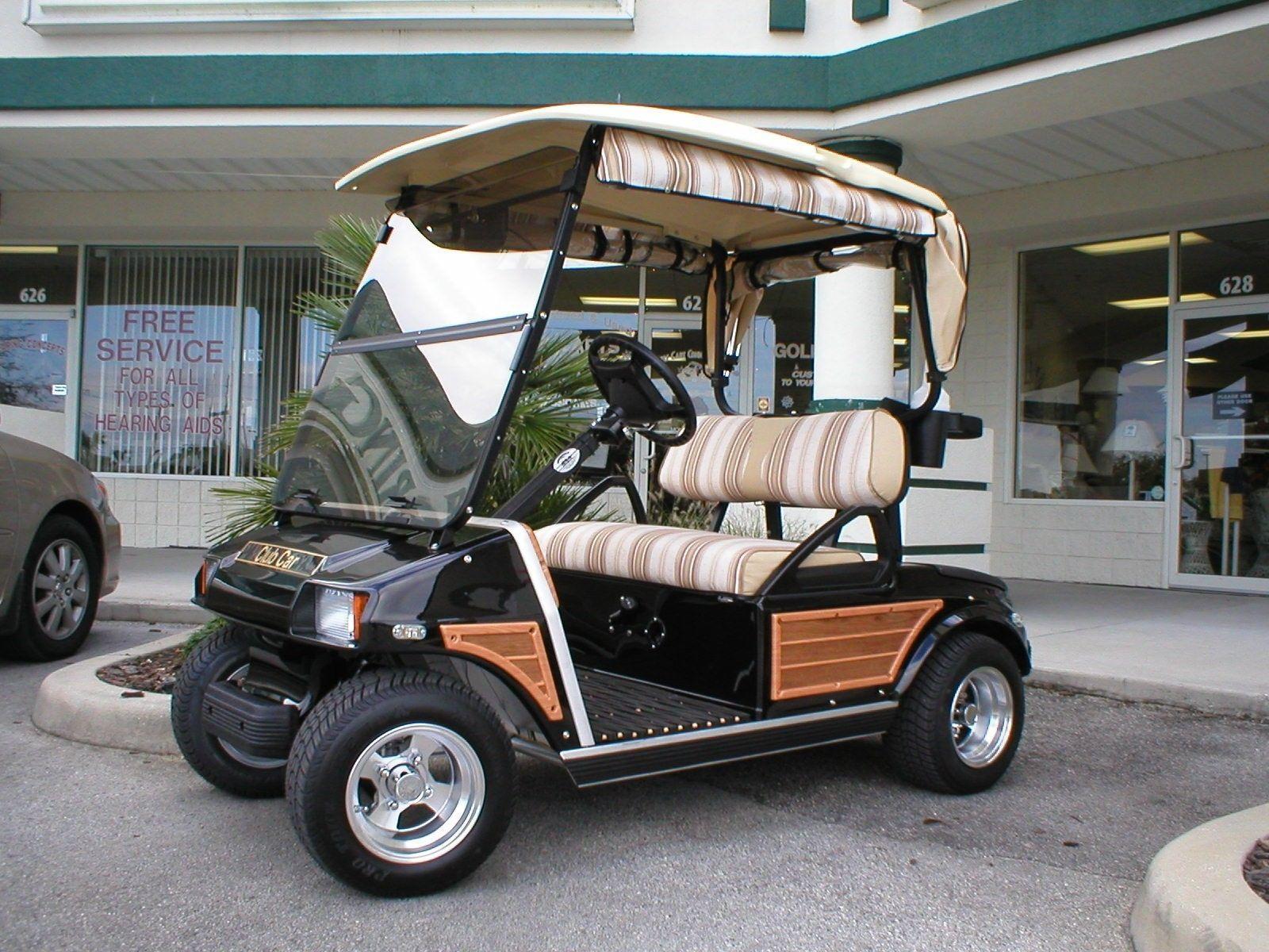Club Car DS Model Golf Cart Woody Kit | golf carts | Pinterest ... Woody Golf Cart Wheels on 2002 chrysler gem cart, car cart, box cart,