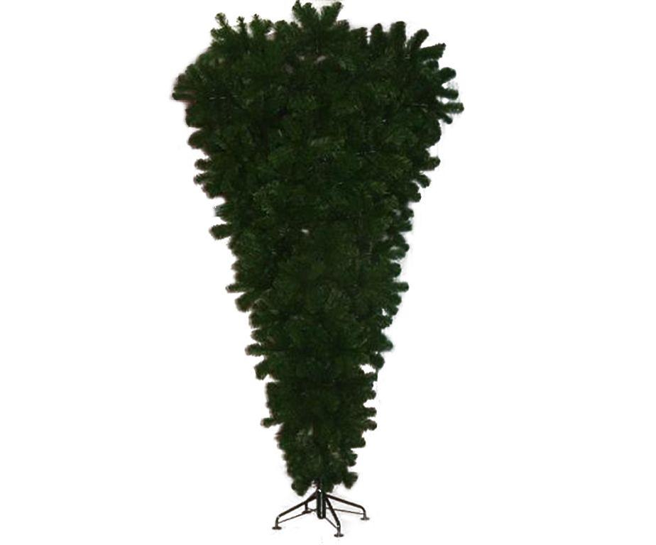 Bellissimo e folto abete capovolto, pratico per ambienti non molto grandi Colore: verde Misure: cm 225 h