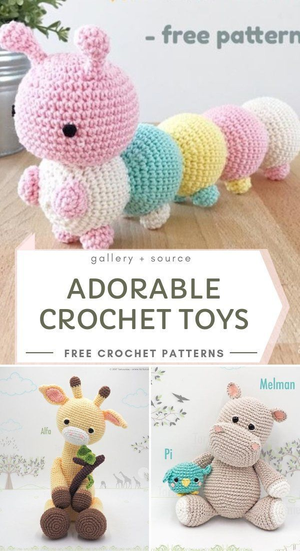 #adorable#crochet#amigurumi Cute Adorable Crochet Toys Explore today's collection of adorable amigurumi toys with us. I chose for you three hottest patterns for soft crochet toys,