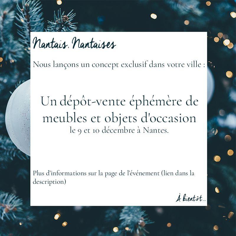 On Vous Prepare Un Superbe Depot Vente Ephemere De Meubles Et D Objets D Occasion Les 9 Decembre De 14h30 A 19h30 Et 1 Mobilier De Salon Ephemere Depot Vente
