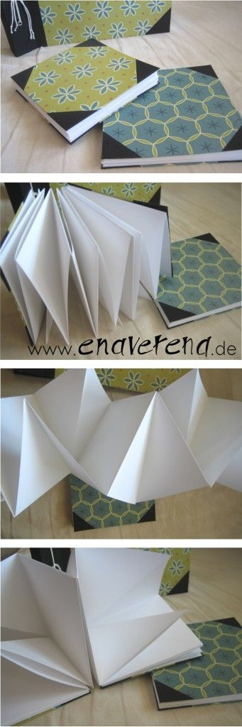 leporello fotoalbum zickzack faltung buchbinden album enaverena diy ideas pinterest. Black Bedroom Furniture Sets. Home Design Ideas