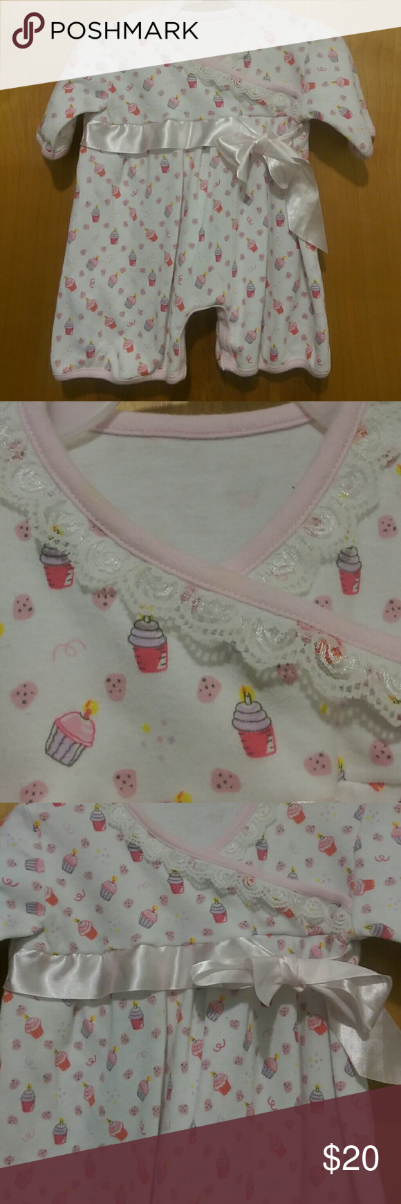3 25 Stephan Baby 12m Birthday Romper Designer Baby Clothes Pink