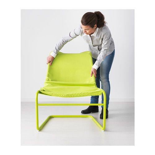 LOCKSTA Easy Chair   Green   IKEA (also Comes In Blue And Orange)