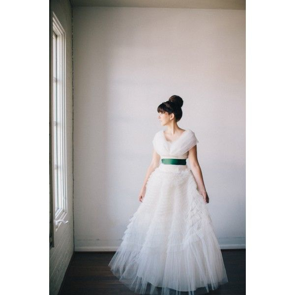 Hairstyle Wedding Dress with Green Belt - Star Bridal Apparel, #hairstyle, #wedding, #dress, #belt