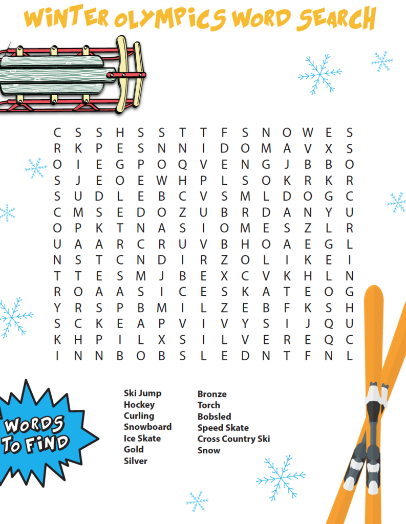 Winter Games Bible Word Search Winter Words Bible Word Searches Winter Olympics [ 1024 x 793 Pixel ]