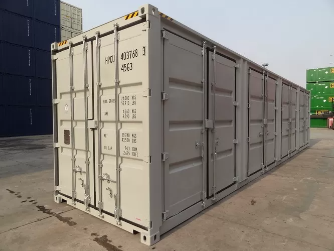 40ft High Cube Side Opening Shipping Container With Four Doors Height 2896mm Shipping Container Container Dimensions Container