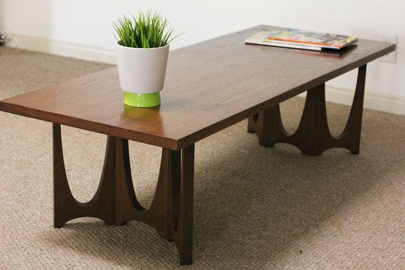 Mid Century Modern Broyhill Brasilia Coffee Table Custom Modern