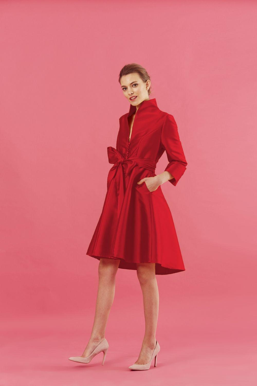 Contemporáneo Diseñadores Del Vestido Rojo De La Boda Adorno ...