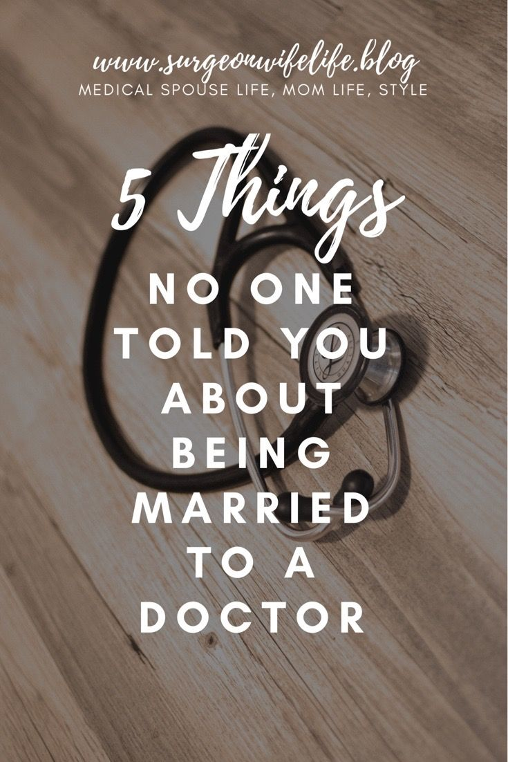 5 Things No One Told You About Being Married to a Doctor