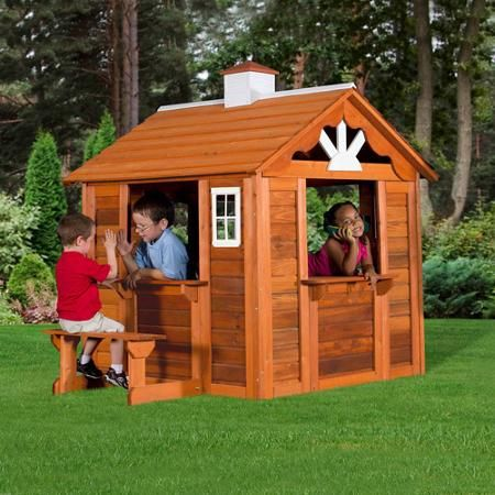 Backyard Discovery Summer Cottage Wooden Cedar Playhouse Josie
