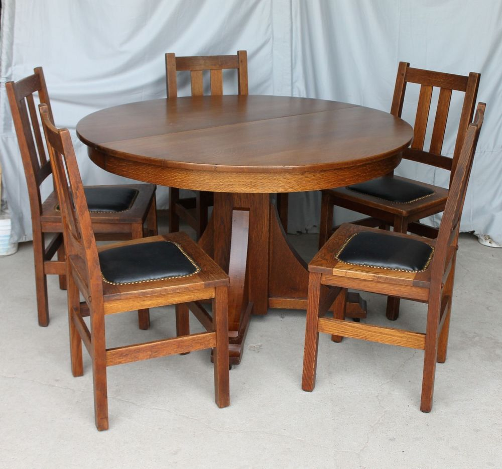Mission Oak Antique Dining Set Stickley Brothers