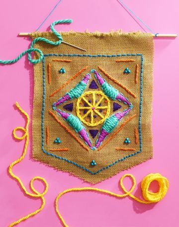 Sew Fun! 3 Easy Embroidery Projects for Kids -   23 burlap crafts for kids