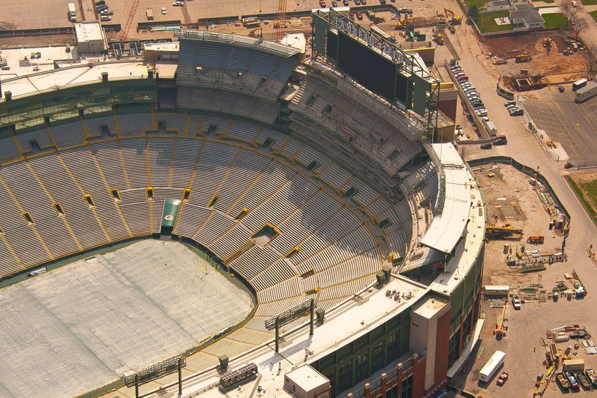 New Seating in South End Zone | Lambeau Stadium | Pinterest