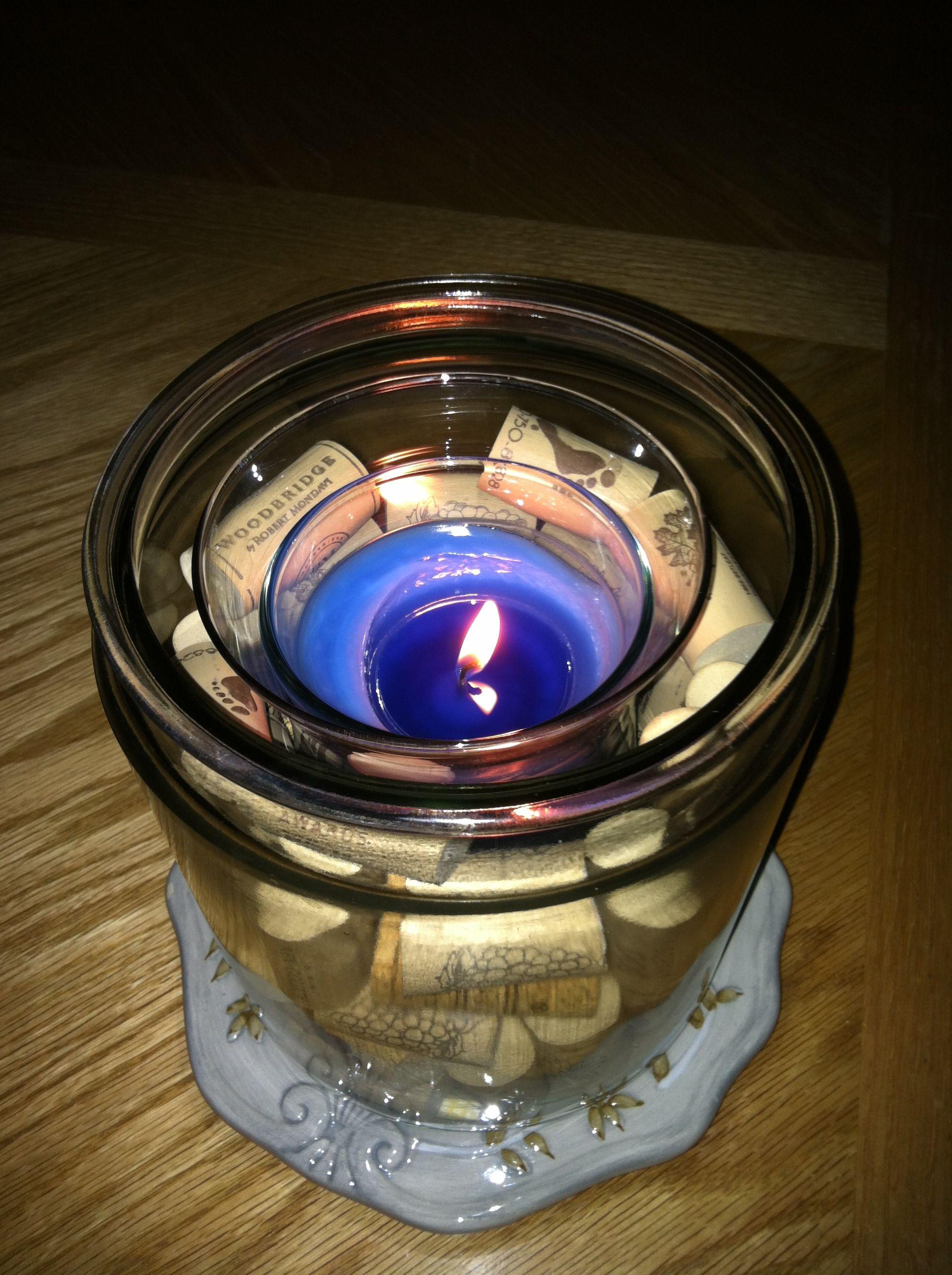 Candle Cork II   Cork, Candles, My style