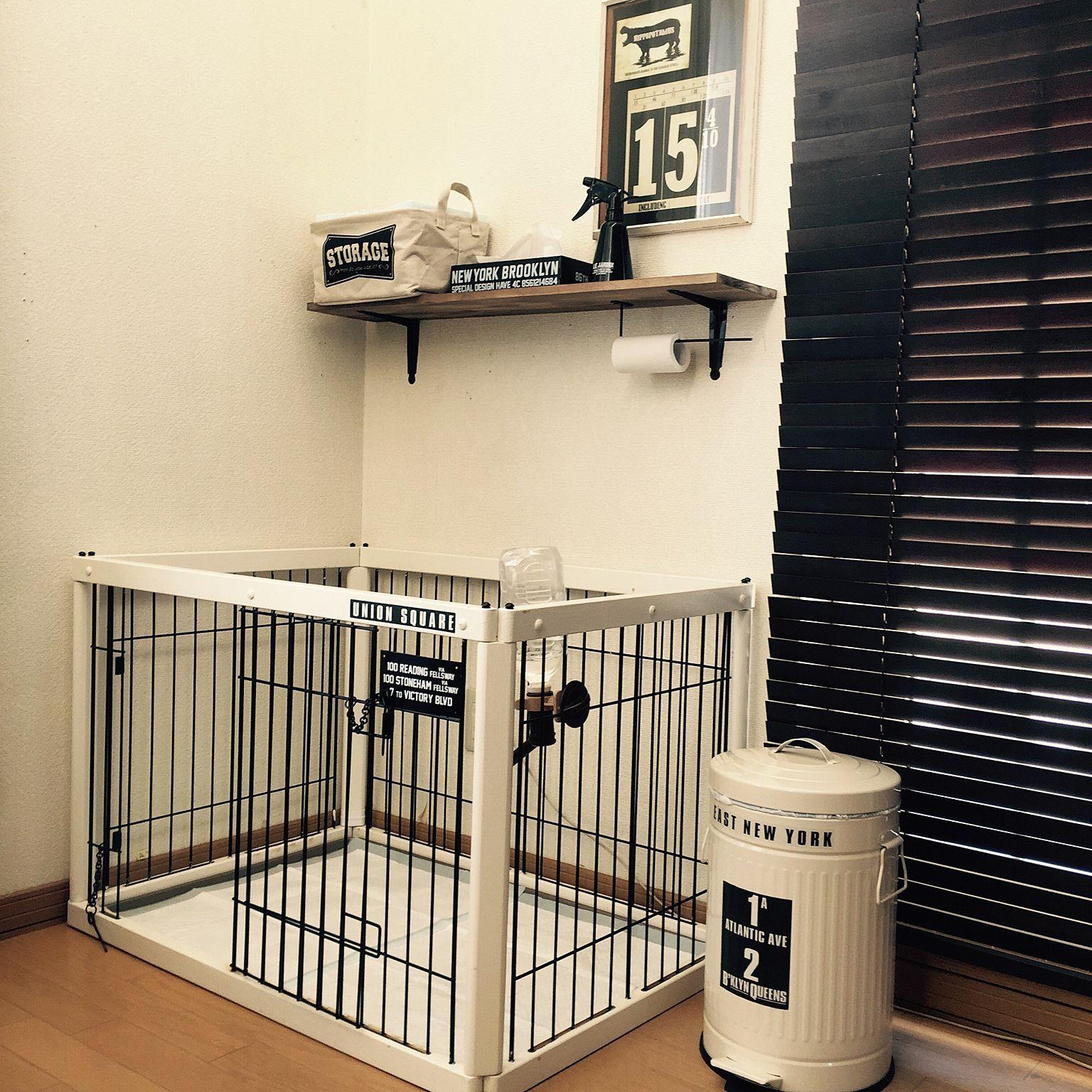玄関 入り口 ニトリ ペットゲージ 犬のいる暮らし シンプルにしたい などのインテリア実例 2017 03 10 18 57 01 Roomclip ルームクリップ ペットゲージ ゲージ 犬 リビング ケージ