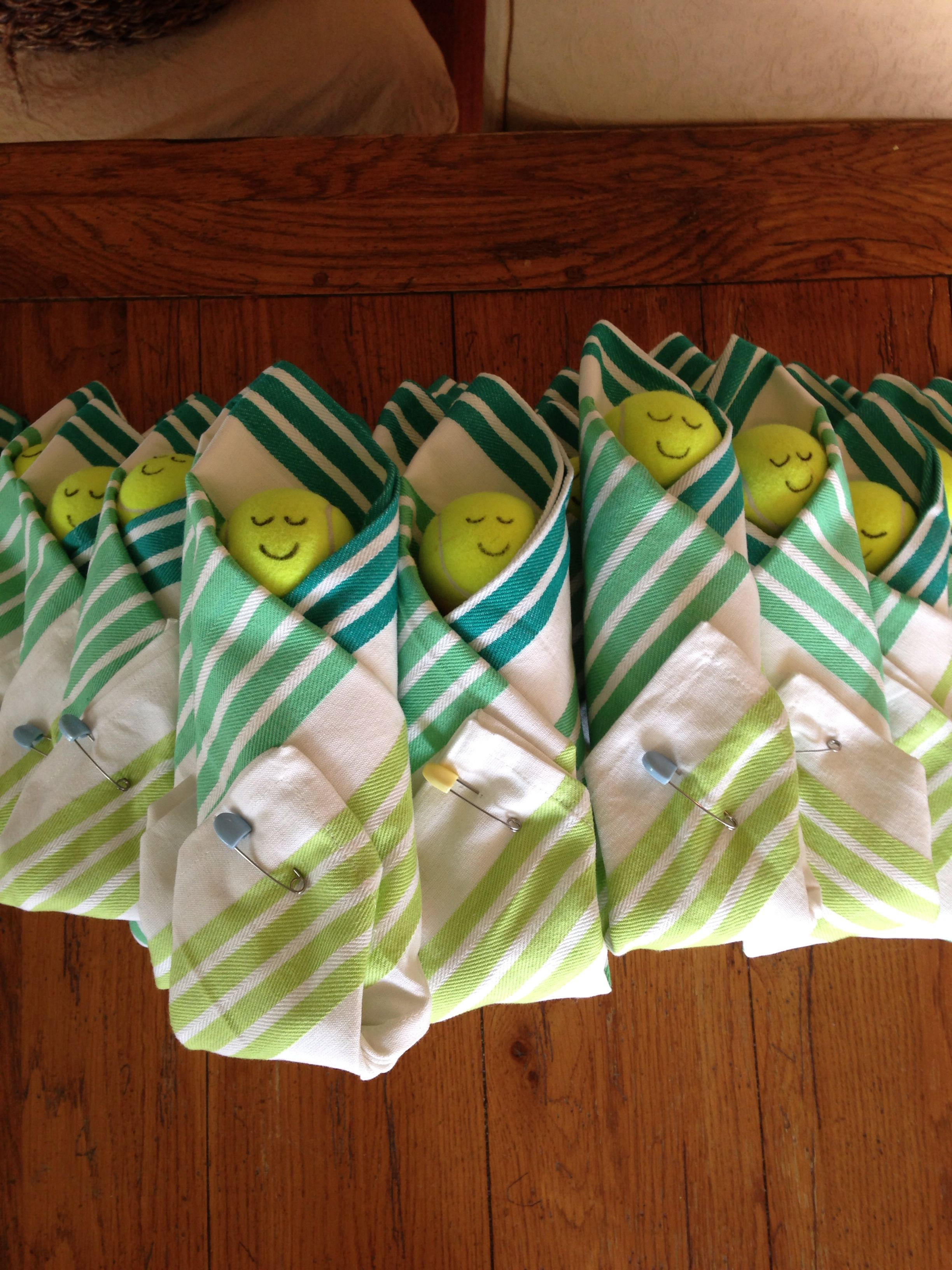 Tennis Themed Baby Shower Favors Sur La Table Dish Towel