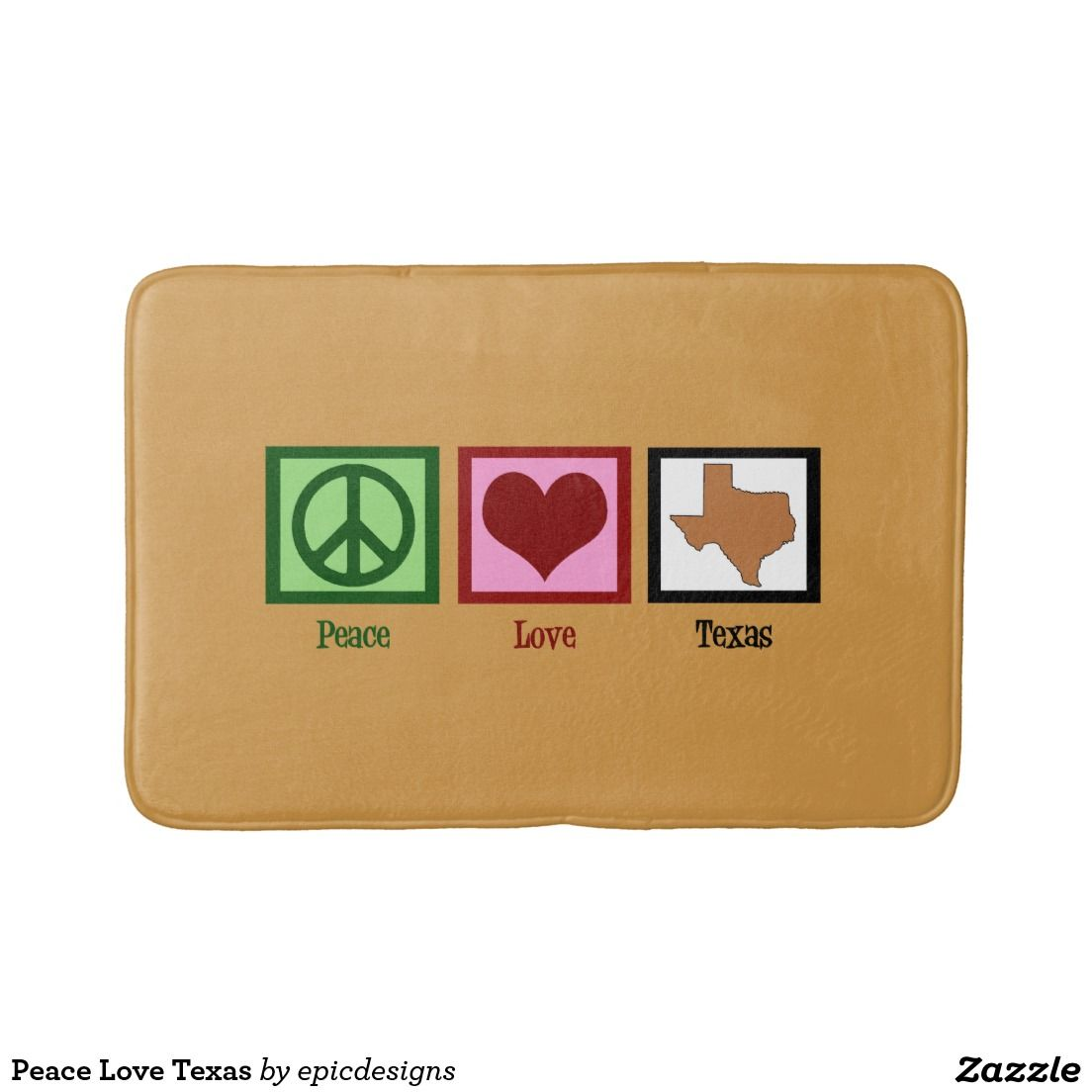 Peace Love Texas Bath Mats