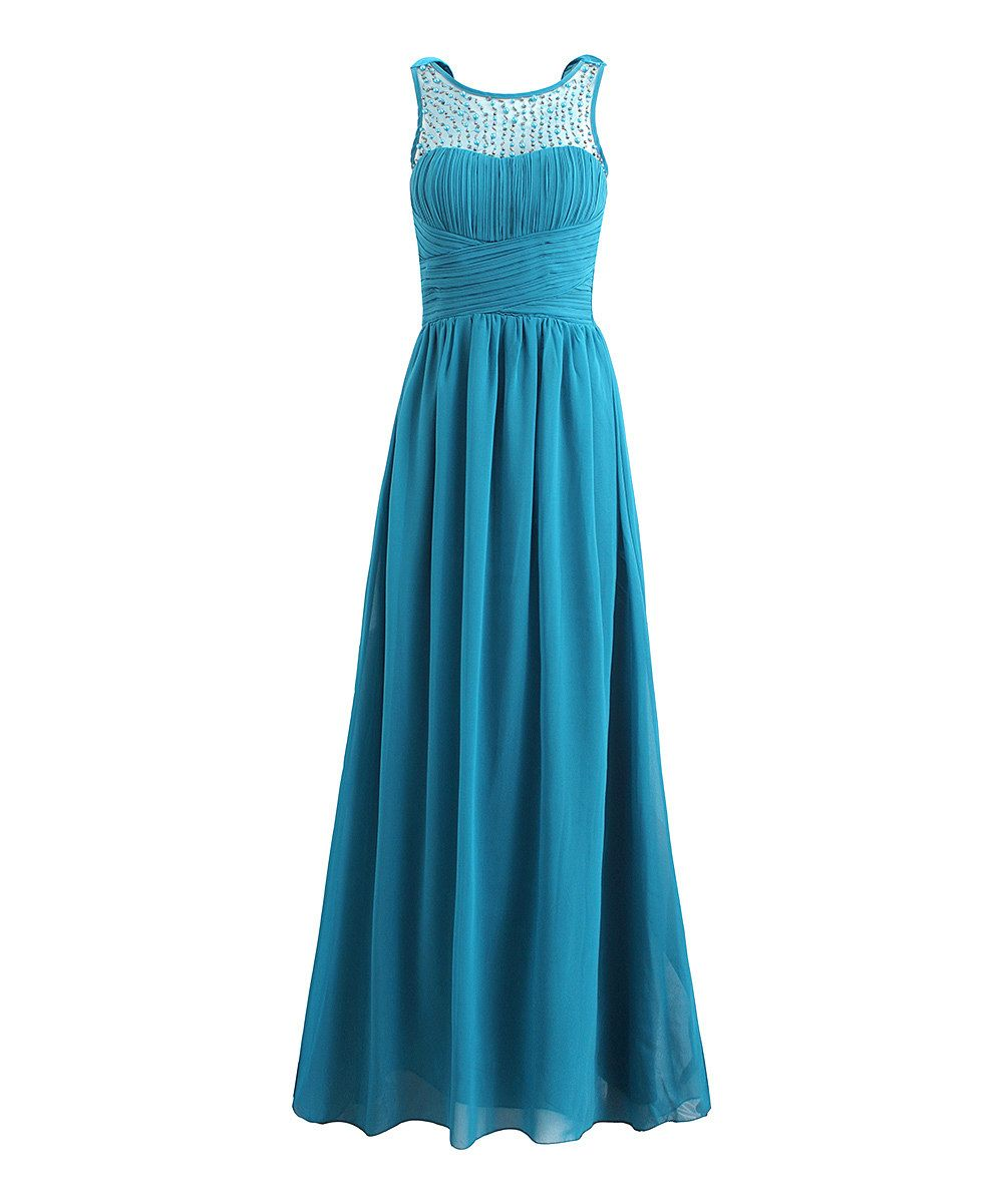 Look at this London Dress Company Teal Blue Diana Gown on #zulily ...