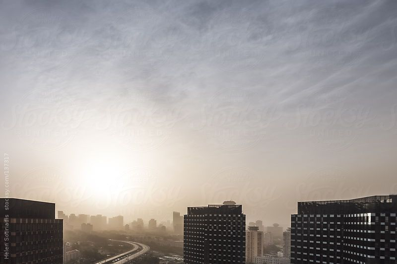 Sunrise over Beijing, with Low Visibility by Helen Sotiriadis