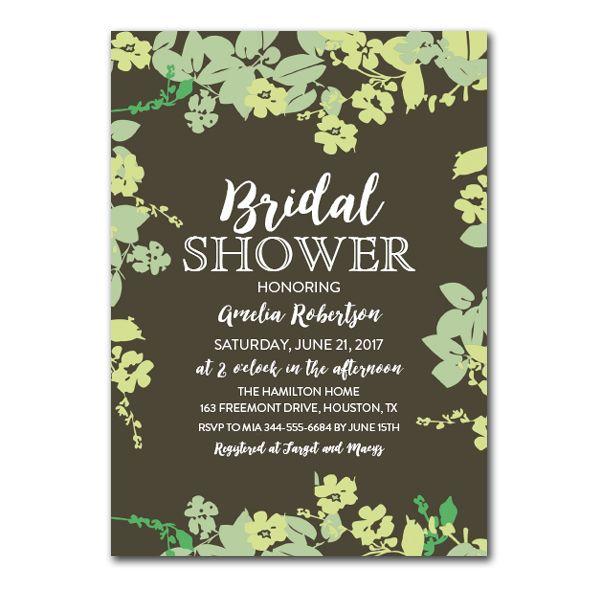 Editable PDF Bridal Shower Invitation DIY u2013 Rustic Country Fall - editable leaf template