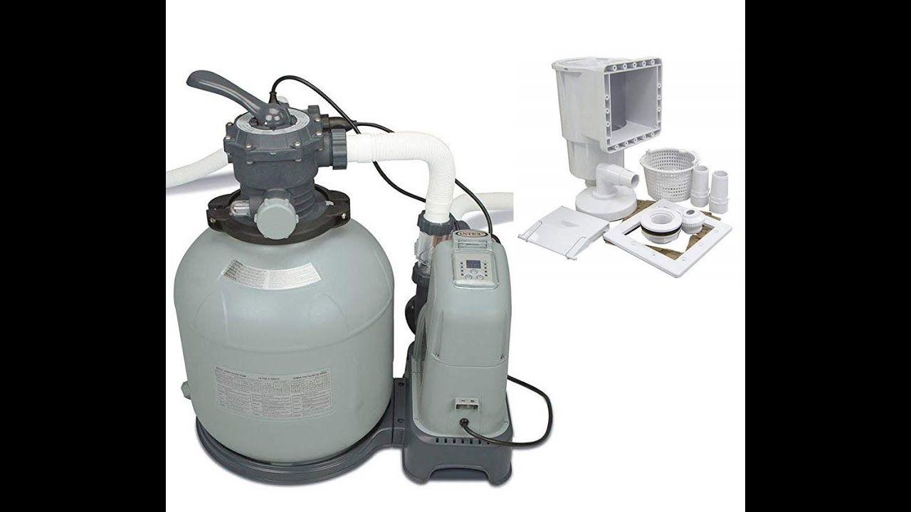 Install Intex Krystal Clear Saltwater System & Sand Filter
