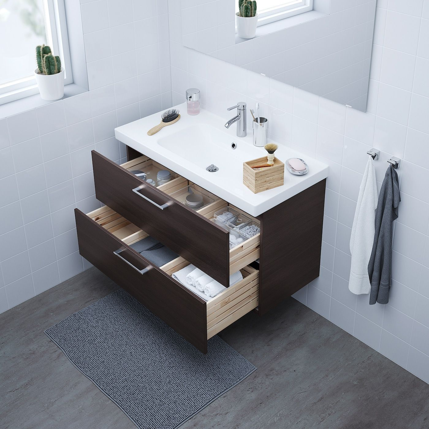GODMORGON ODENSVIK brown stained ash
