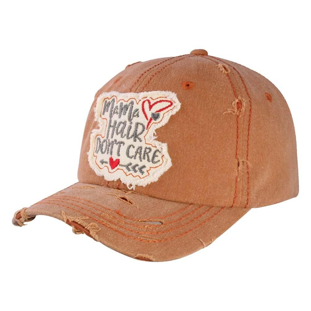 """cec298413f3 """"Mama Hair Don`t Care"""" Distressed Vintage Cap. """""""