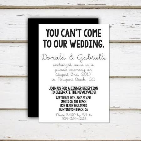 Elopement Announcement Ideas Google Search Wedding Day Pinte