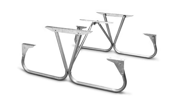 1 5 8 O D Galvanized Park Ranger Picnic Table Frame Kit Table Frame Metal Bins Picnic Table