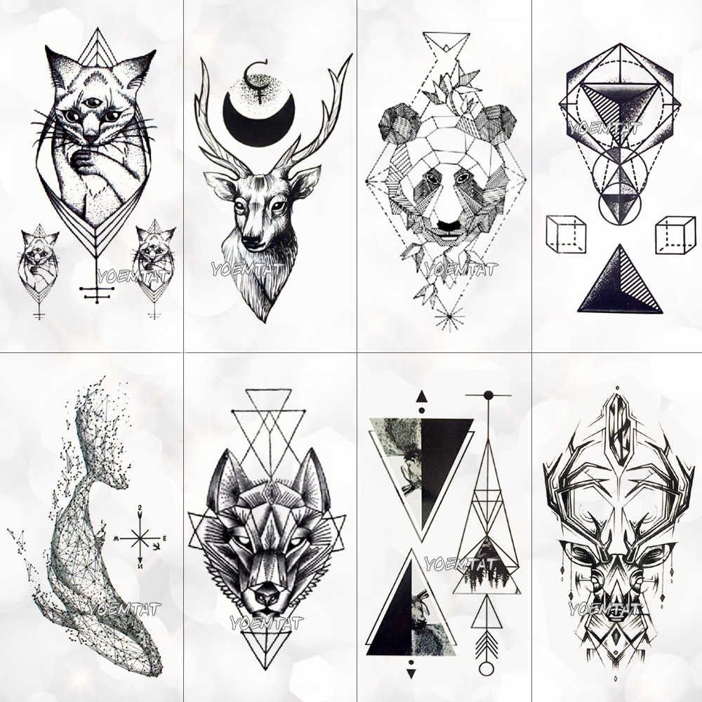 Photo of Geometric Cool Temporary Tattoo Sticker For Women …