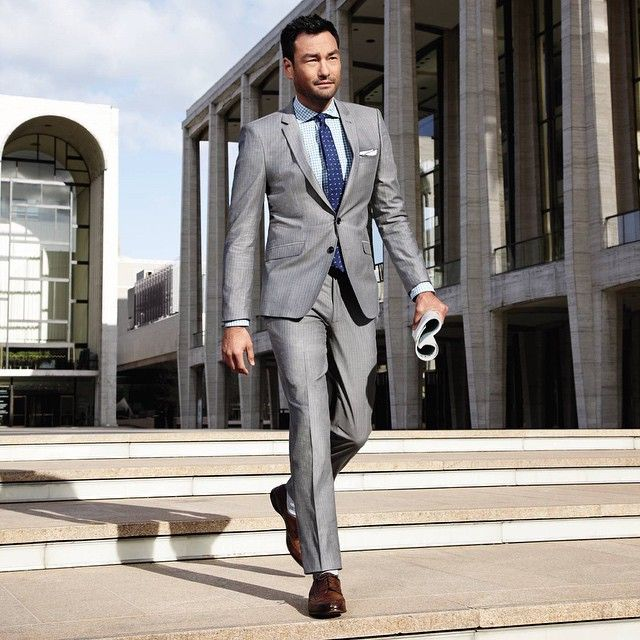 gray suit and blue tie | Men Style | Pinterest | Blue ties, Nice ...