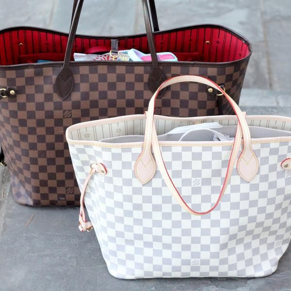 You asked and we're thrilled to answer! Louis Vuitton's Neverfull tote is hands-down the most asked about handbag regarding ToteSavvy compatibility and probably