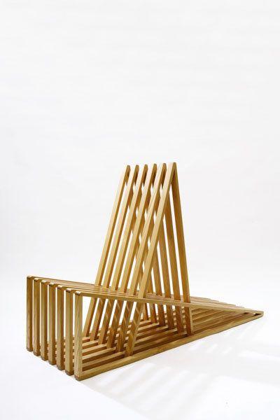 Scott Burton; Ash Prototype 'Slat' Chair, 1986.