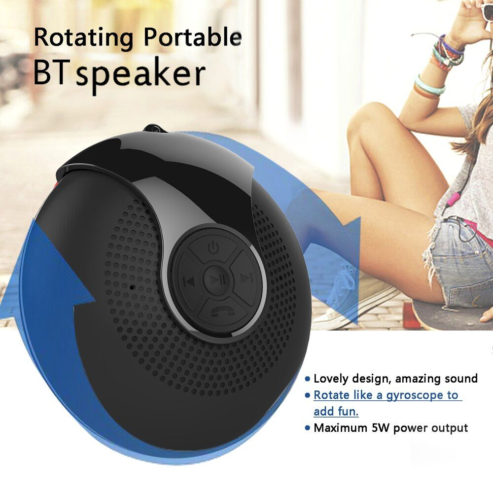 Mini Bluetooth Speaker With Colorful Rgb Led Fingertip Gyro Portable Rotatable Wireless Subwoofer Bass Sound Box Music Player Mini Bluetooth Speaker Bluetooth Speaker Speaker
