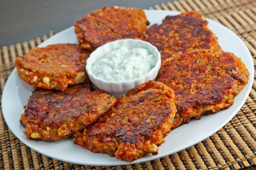 tomatokeftedes -greek traditional tomato and feta fritters