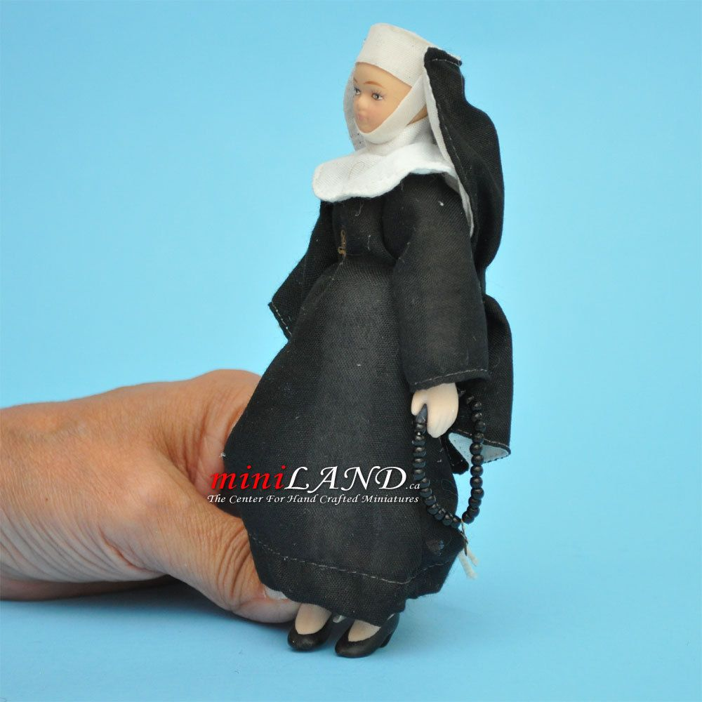 "PRIEST PORCELAIN DOLL 6/""H  dollhouse miniature 1:12 scale"