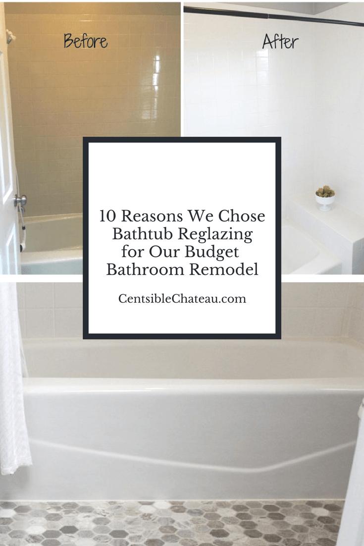 10 Reasons To Bathtub Reglaze Our Budget Bathroom Makeover