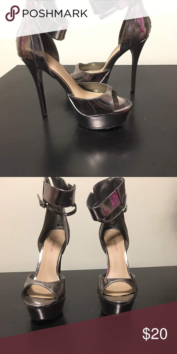 700b28a0ba5 Pewter Platform Heels-Size 7.5 Brand new pewter platform heels No box Never  been worn 5 inch heel with 1 inch platform Zipper closure Shoes Heels