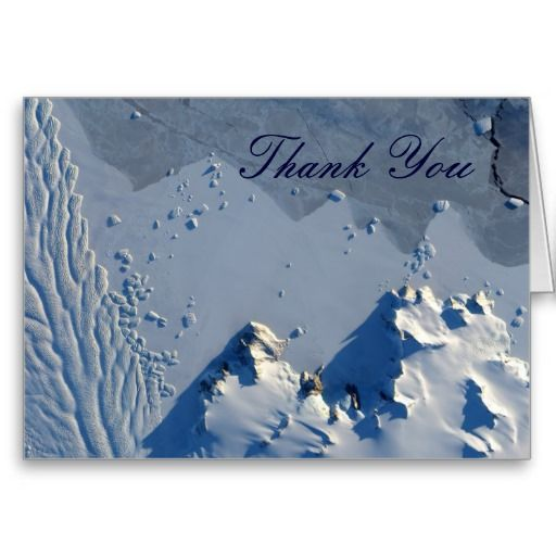 Matusevich Glacier Thank You Note Card