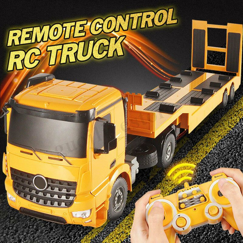 Details about Remote Control RC Truck Flatbed Semi Trailer