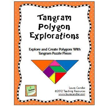 Udforsk polygoner ved hjælp af tangram'er. Masser af eksempler og øvelser og ark lige til at downloade og printe ud.