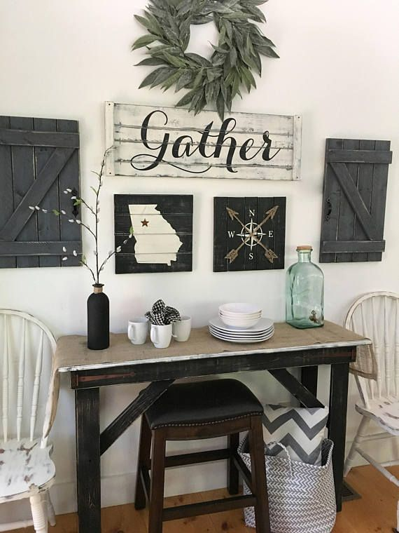 This Gather Sign 5 Piece Set Includes The Gather Sign Two Large