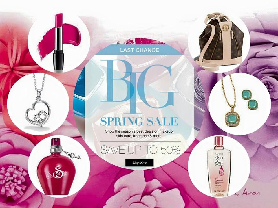 Big Sale, save big on makeup, skincare, fragrances, and more. Go to: www.youravon.com/lindabacho #avonrep     20% off order of $50+ Coupon Code: AVONFB20   Also FREE shipping on orders of $40+