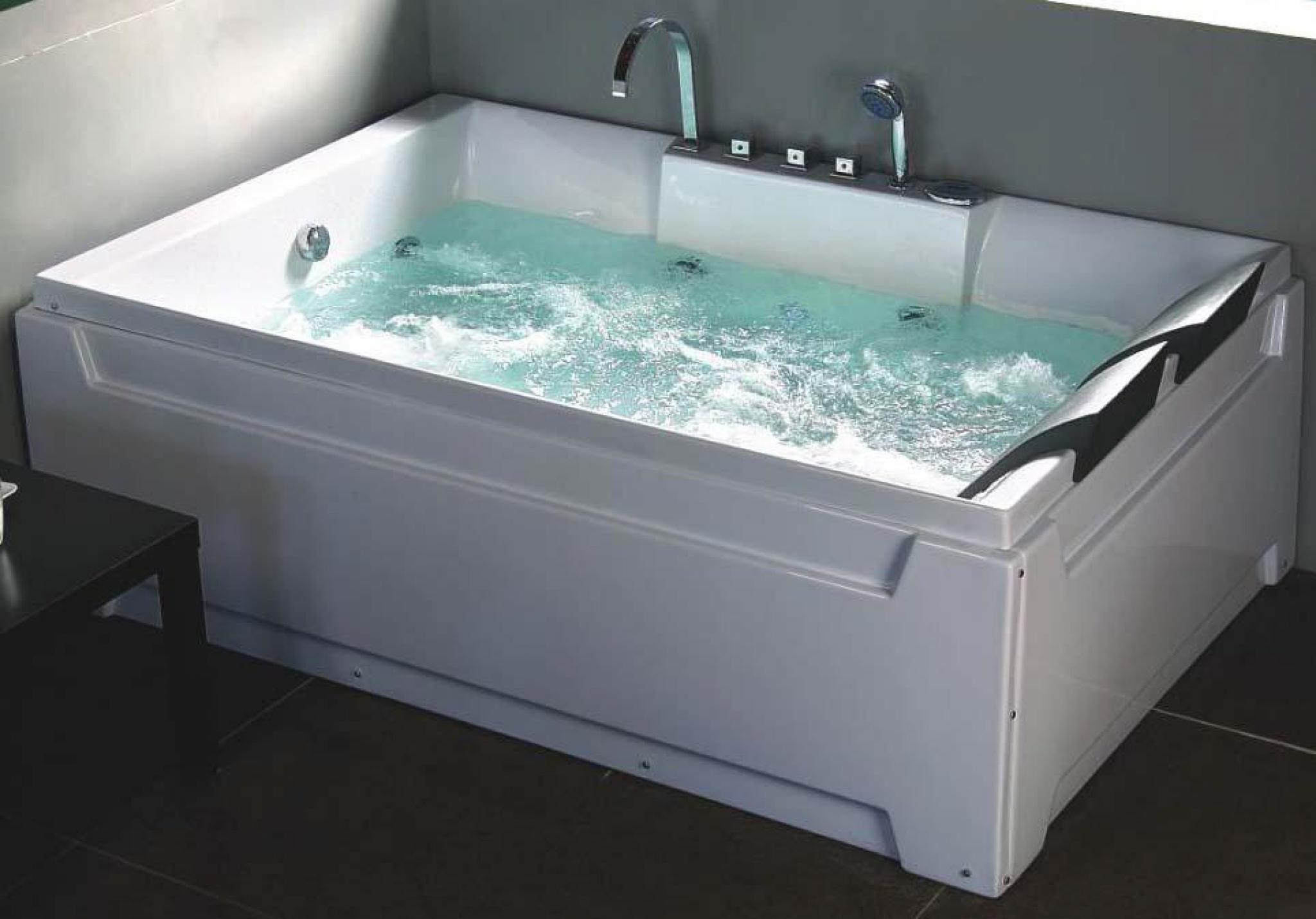 Vasca Da Bagno Doppia.Vasca Idromassaggio Paradise Luxury 185x123 Doppia Di Design