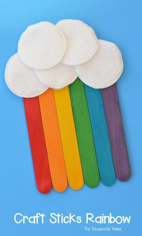 Craft Sticks Rainbow Craft Repins Craft Stick Crafts Crafts For