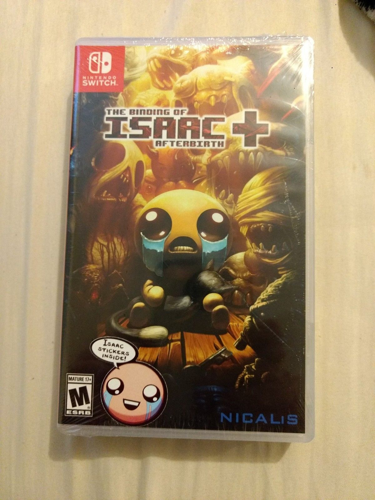 Binding Of Isaac Afterbirth Nintendo Switch Launch Edition Sticker The Brand New 6699