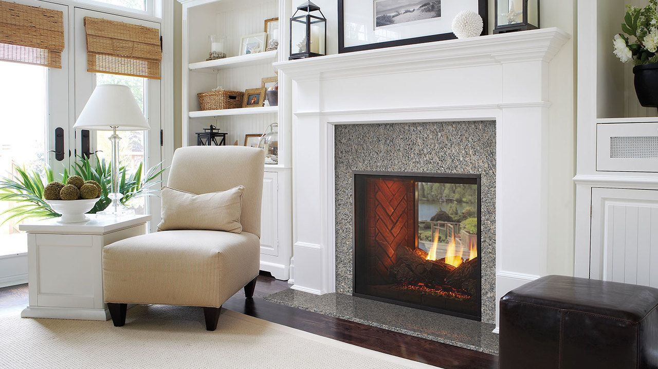 Fortress See Through Indoor To Outdoor Gas Fireplace Indoor