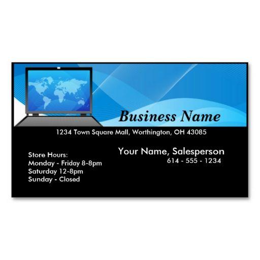 world laptopcomputer business card  zazzle